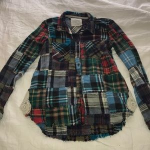 Free people we the free lost in plaid patchwork